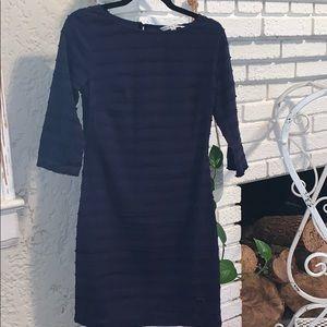 Trina Turk Navy Ruffle Dress